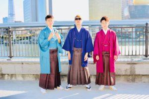 お友達と袴で成人式。
