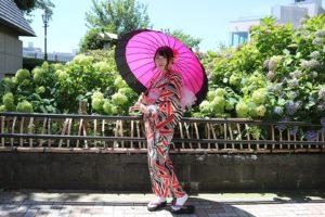 玉城ティナちゃんデザインの浴衣です。