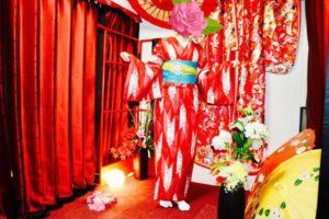 一泊二日プランご利用のお客様です❤️ 紅の矢羽のお着物をお選び頂きました! 上品でとても素敵です(*^◯^*)
