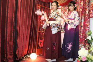 香港來的客人穿袴服很有感覺呢!