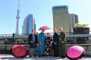 Kimono experience together with friends fromEngland.
