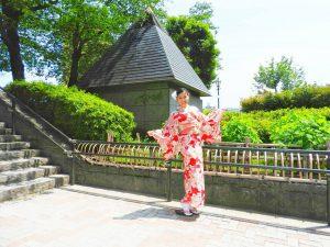海外からのお客さまです????素敵なお着物をお選び頂きました\(^-^)/着物体験ありがとうございます!