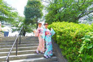 お二方とも艶やかなお着物がとてもお似合いです(~▽~@)♪♪♪浅草散策楽しんでくださいね♪着物体験ありがとうございます????