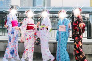 一同來東京旅遊,感情很好的來體驗和服啦!!