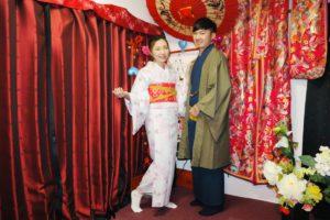 來自台灣的情侶一同體驗了和服,真甜蜜!
