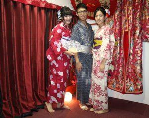 感情很好的台灣三兄妹,很適合浴衣喔!