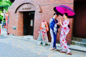 香港からお越しの#素敵 なカップルです。 非常適合和服的香港情侶。