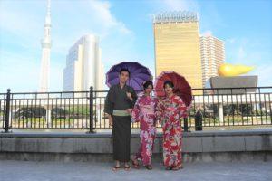 中國客人準備在淺草觀光,謝謝您們體驗和服喔