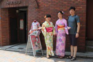 來自台灣的好朋友們一起穿浴衣囉!