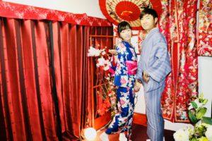 香港來得情侶一起體驗和服超速配的!