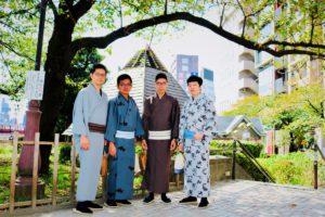 馬來西亞來的男士們 一起體驗紳士和服