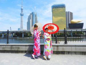 台湾からのお友達が日本に遊びに来て、振り袖体験をしていただきました!暑い中、ありがとうございます\(^_^)/