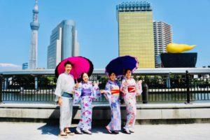 #香港 からお越しの仲よしグループです。 從香港來體驗和服感情很好的客人們。