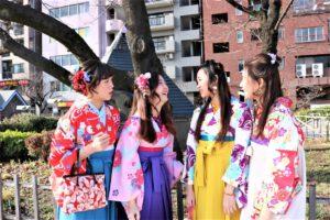 マカオから袴 体験 笑顔 素敵 女子4人