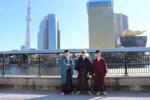 成人式で袴をご利用いただきました。おめでとうございます。