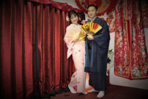 ベトナム 結婚 和服 記念写真