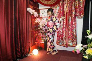 傳統和服氛圍的浴衣