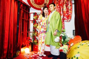 來自越南的客人們,慶祝結婚來體驗和服拍照留念,非常適合兩位喔!! 謝謝您們