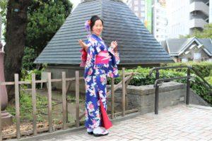 素敵な和服、浅草記念撮影!