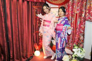 日本朋友帶中國來的朋友一起穿和服~