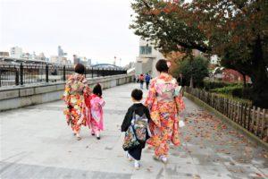 浅草観光、お子様 和服体験