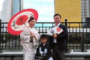 5歳の男の子の七五三でご利用頂きました\(^-^)/ご家族で浅草寺へお参りに行かれました!楽しんで下さいね★おめでとうございます(^^)/