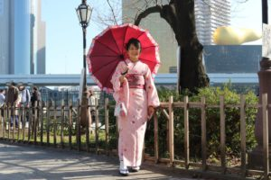 香港から 和服美人 お一人