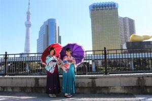 香港來的朋友第三次穿和服呢!