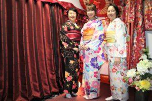香港からご家族で着物体験