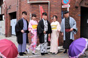 香港來的客人第一次體驗和服呢!