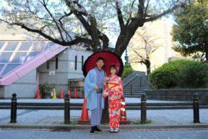 香港から着物でデート 來自香港的情侶來體驗和服約會