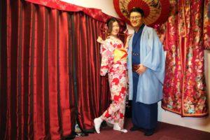 來自香港的情侶,兩位穿起和服都很合襯呢~