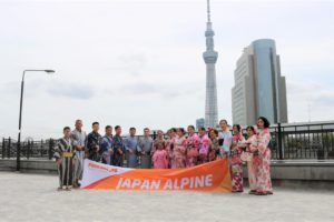 インドネシアからの団体様 浴衣で街歩きと記念撮影!
