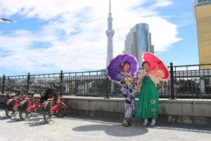 來自台灣的可愛姊妹,體驗一日袴