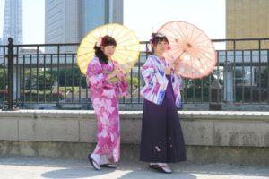 袴をご利用いただきましてありがとうございます。二人ともかわいいですね。浅草散策楽しんでくださいね。