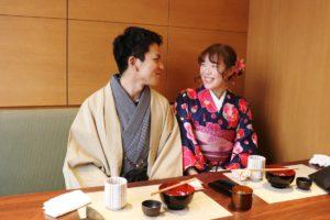 和食レストラン「折紙」にて和食ランチ