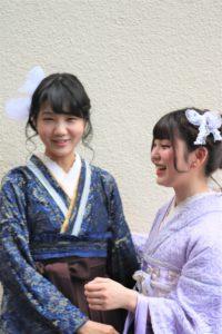 レース着物、袴 撮影モデル