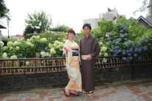 紫陽花と浴衣素敵!