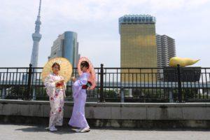 #卒業旅行 #和服體驗 #東京觀光