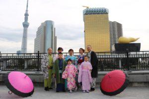 來自印尼的2個家族一起來華雅穿和服