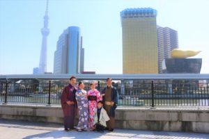 來自香港的家族,第一次體驗和服
