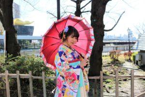 モデル 花咲るい 伝統的 袴 ポートレート