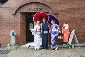 穿著和服的台灣客人,非常可愛呢!