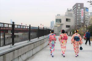 女子会、着物で浅草散策、楽しんでくださいね