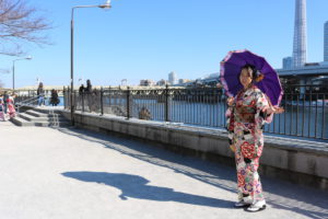台灣的客人也來穿振袖和服慶祝成人式!