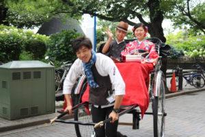 USAからお越しのお客様です。人力車プランのご利用です。 #USA #Rickshaw