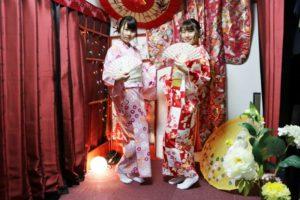 なかよしプランご利用のお客様です。桜の季節にお似合いの着物を着ました、ありがとうございます。