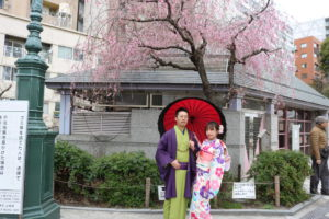 今天很開心來第一次體驗和服,說下次要來體驗袴服呢!!