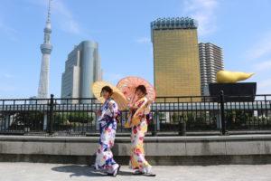 艶やかな装いで #浅草散歩