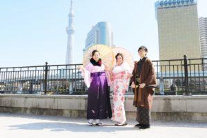 香港からお越しのご家族様です。袴もご利用いただきました。